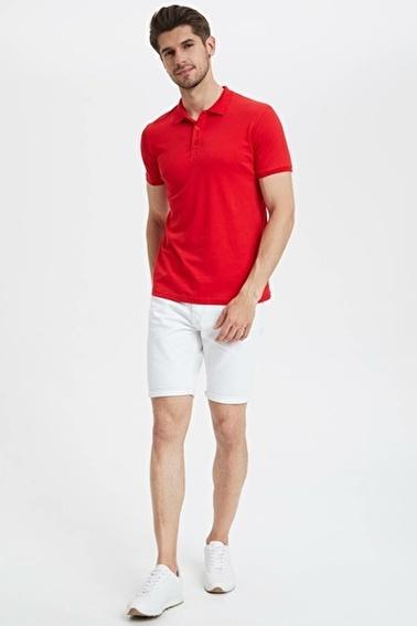 DeFacto Slim Fit Polo T-Shirt Kırmızı